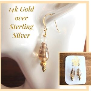 Frontrow.style Jewelry - 14k/Sterling Silver Earrings Olivia Murano Beads